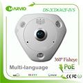 Hik 6MP 3072 x 2048 multi language 360 degree panoramic view fisheye IP Network Camera DS