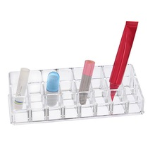Buy 24 Grids 24mm Cosmetics Makeup Organizer Lip Gloss Lipstick Holder Rack Rangement Maquillage Storage Box Jewelry Box 22x8.5x5cm for $10.52 in AliExpress store