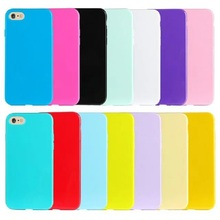 12 Colors Soft TPU Candy Color Phone Cases for Iphone 6 6s Plus 5s 5 SE 5C Solid Color Phone Covers for Iphone 6 Coque Capa(China (Mainland))