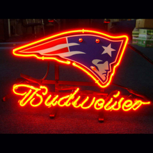 """Custom Business NEON SIGN board For ENGLAND PATRIOT BUDWEISER  GLASS Tube BEER BAR PUB  store display  Shop Light Signs 17*14""""(China (Mainland))"""