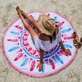 CharmDemon 2016 Fashion Round Hippie Tapestry Beach Throw Roundie Mandala Towel Yoga Mat Bohemian jy8