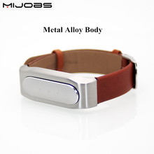 Xiaomi Mi Band Genuine Leather Miband Wrist Strap Smart Bracelet Belt Leather Strap Wristbands Replace For Mi Band