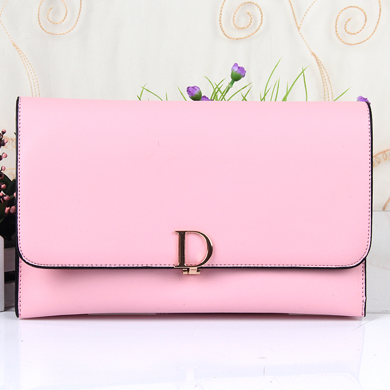 2016 Brand New Ladies Clutch Fashon Style Twins Snap Designer Womens Handbags D Letter Decoration Women Bags(China (Mainland))
