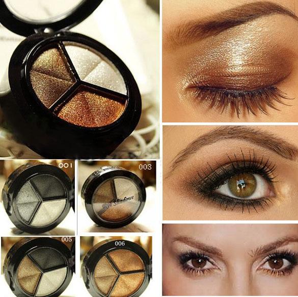 Smoky cosmetic set 3 colors professional natural matte eyeshadow makeup eye shadow palette Naked Nude Eye Shadow glitter JYT047(China (Mainland))
