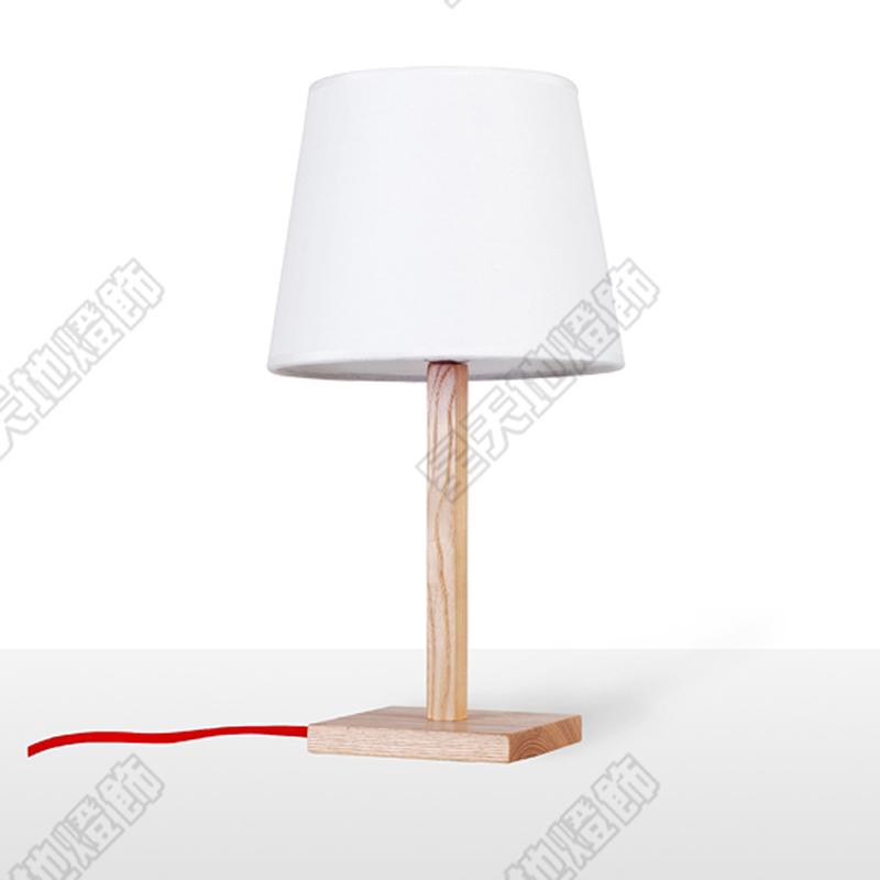Covers wood table lamp modern minimalist art wooden wood table lamp bedside lamp bedroom living for Wooden table lamps for living room