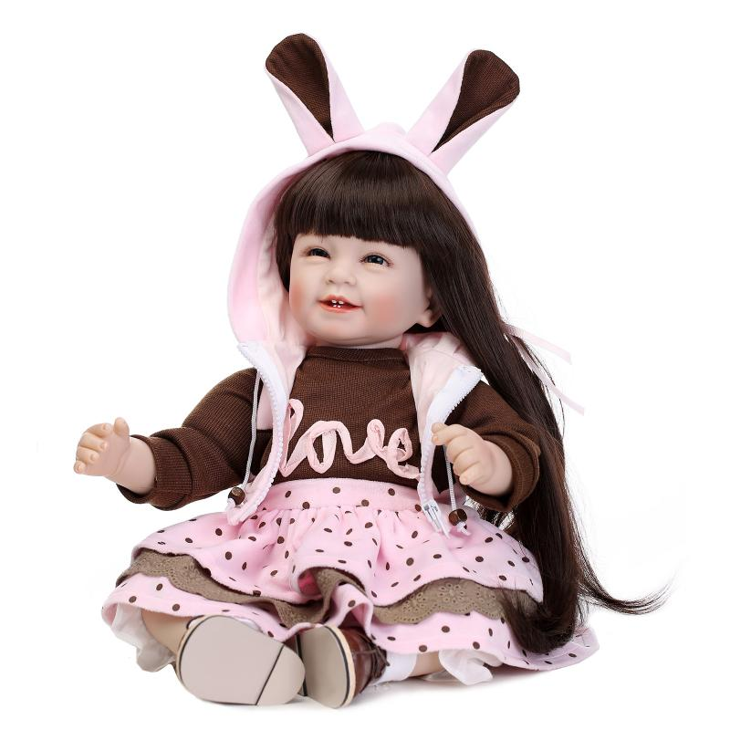 """Princess Series 22 """"inches rebirth silicone Little bunny costumes Up Doll girl upscale children's toys(China (Mainland))"""
