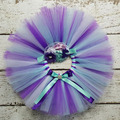 Colorful Girl s Tutu Skirts Infant Baby Layers Handmade Ballet Tutus Pettiskirt with Ribbon Bow Flower