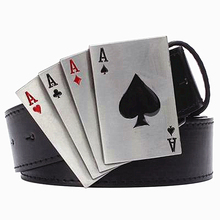 Buy Metal punk belt rock style Lucky Poker gamble metal buckle belts lucky Playing card belt punk Hip hop decorative belt for $10.29 in AliExpress store