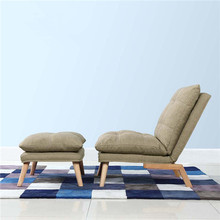 Modern Folding Chaise Lounge Sofa Japanese Style Foldable Single Sofa Bed 3  Color Living Room Furniture
