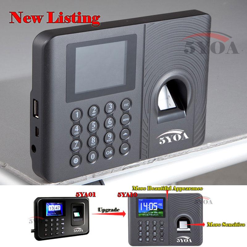 biometric fingerprint usb time clock English Spanish Portuguese Voice attendance recorder timing employee sensor machine reader(China (Mainland))