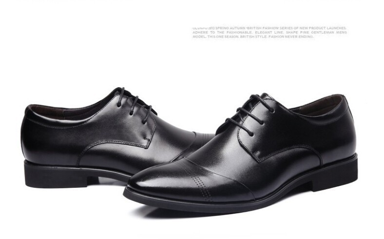 2014 Brand Oxford Men Boots Genuine Leather Shoes Outdoor Dress Weddin