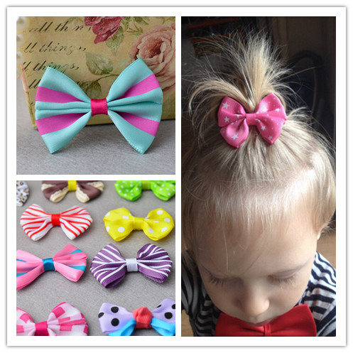 Leopard Flower Hair Clip Kids Bow Headdress Cartoon Polka Dot Head Barrettes Princess Accessories Strip Child hairpin 2pcs lot(China (Mainland))