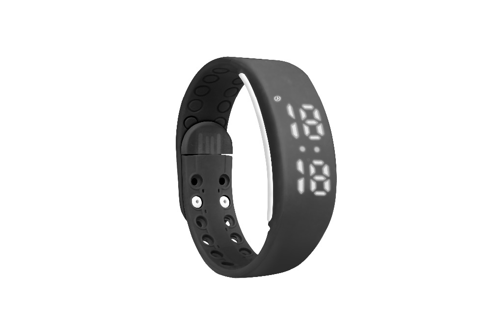 W2 Smartband Slim Smart Bracelet USB Wristwatch 3D Pedometer Sleep Temperature Calorie Monitor Time Display Fitness