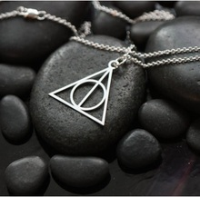 Simple Harry Potter Deathly Hallows triangle Necklace For Women x-533