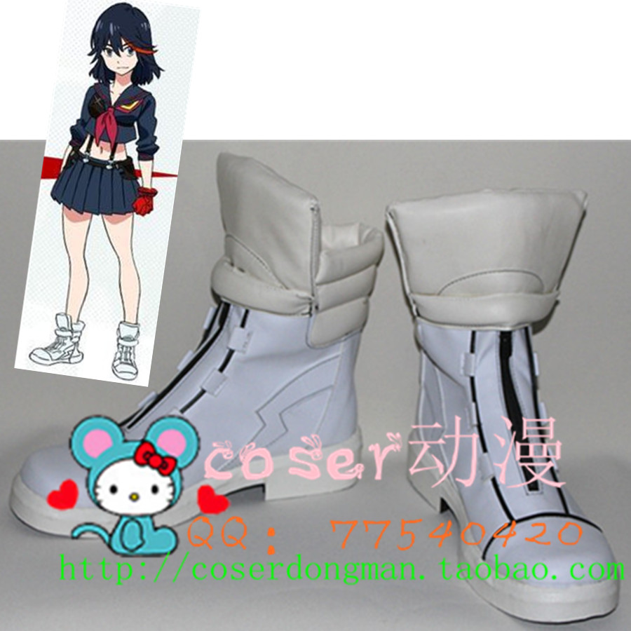 Kill la kill Matoi Ryuko cosplay shoes anime boots