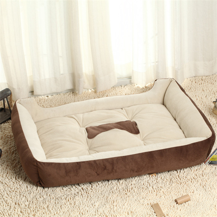 Free Shipping Big Size Large Dog Bed Kennel Mat Soft Fleece Pet Dog Puppy Cat Warm Bed House Plush Cozy Nest Dog House Pad PC31(China (Mainland))
