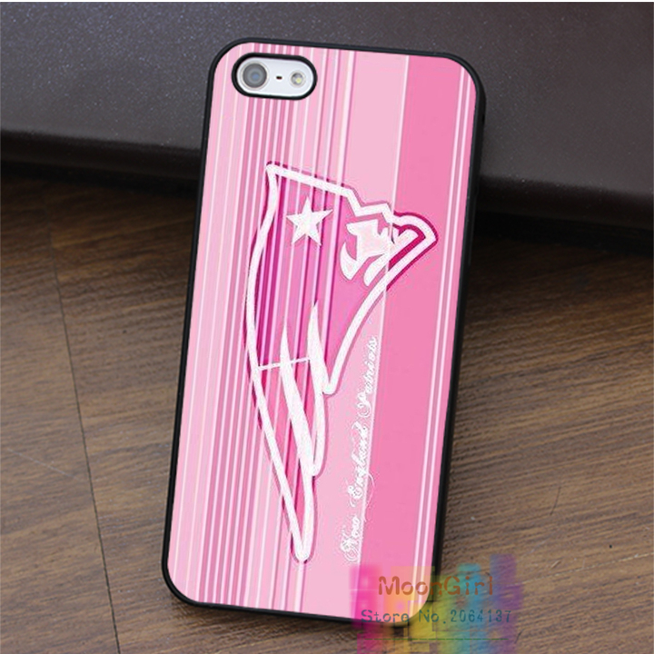 Logo of New England Patriots Pink fashion cell phone case for iphone 4 4s 5 5s 5c SE 6 6s & 6 plus & 6s plus #LI1930(China (Mainland))