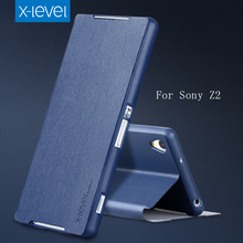 Flip Smart Cover PU+TPU Leather Case for Sony Xperia Z2 Case ,Phone Cover Case For Sony Xperia Z2(China (Mainland))