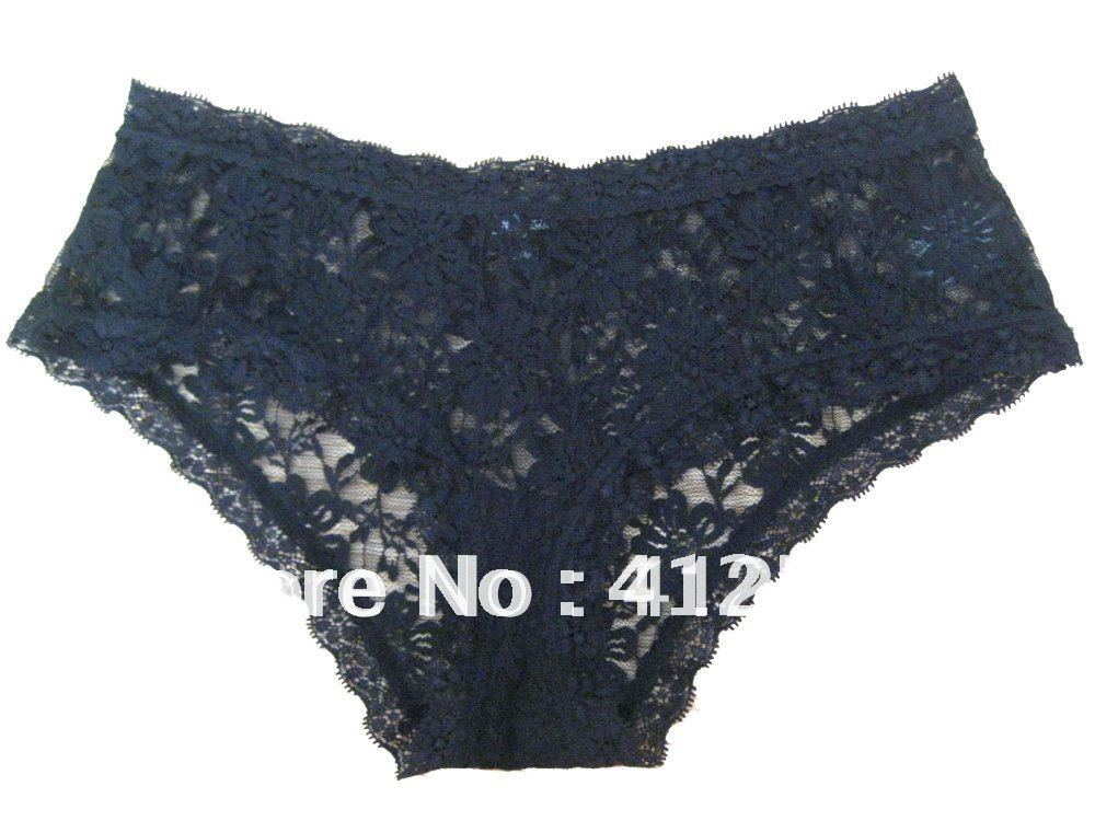 Full stretch Lace hipster women briefs girls panties ladiex underwear black color -- Free shipping(China (Mainland))