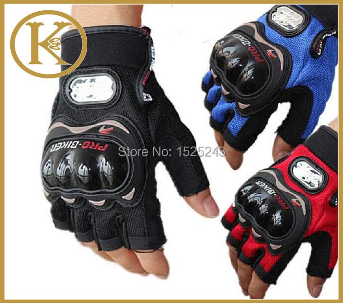 PRO-BIKER New Fashion Driving Car Motorcycle Moto Classic Racing Gloves Cycling Bike Bicycles Summer spring Half Finger Gloves(China (Mainland))