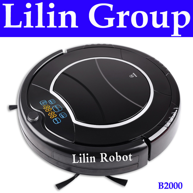 Robot Vacuum Cleaner , 2 Side Brushes,LED Touch Screen.with Tone,HEPA Filter,Schedule,Remote Control, Virtual Wall,Self Charging