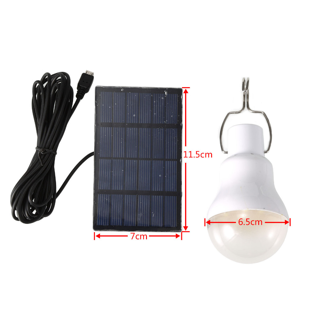 Portable Solar Panel Power 5W LED Bulb Lamp Outdoor Camp Tent Fishing Hiking Light Mini Solar Powered LED Light Bulb(China (Mainland))
