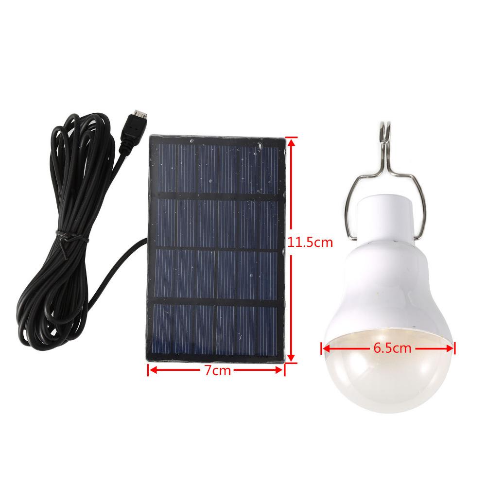 Portable Solar Panel Power 5W LED Bulb Lamp Outdoor Camp Tent Fishing Hiking Light Mini Solar Powered LED Light Bulb(China (Mainland))