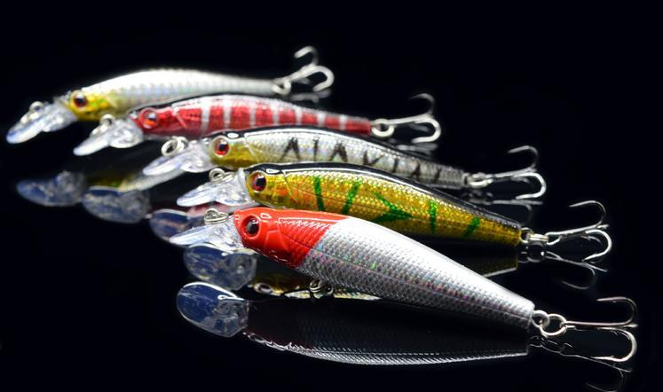 5pc/set 4set/lot 5 Colors Fishing Lures 8cm 8g Artificial Bait Sweater Fishing Bait Carp Bait Fishing Fishing Tackle Lure