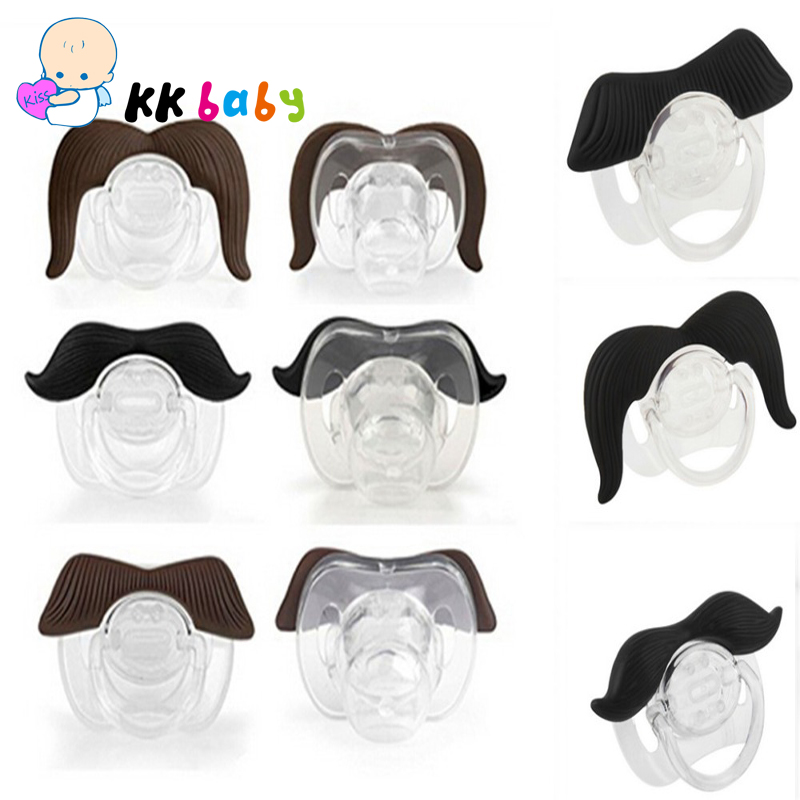 Novelty Funny Mustache Silicone Baby Pacifier Dummy Nipple Toddler Teat Infant Baby Child Soother Beard Nipples(China (Mainland))