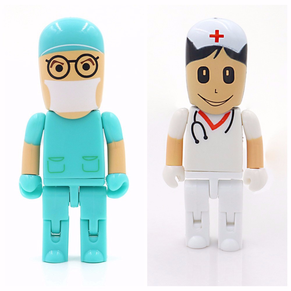 2016 Hot Selling Doctor& Nurse Usb Flash Drive With Real Capacity Usb2.0 USB Flash 64GB 32gb 16gb 8gb 4gb Cle Usb Pendrive(China (Mainland))
