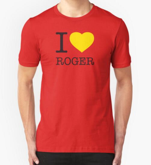 Fashion New I love ROGER Federer RF Tennis T Shirts Men Casual Round collar Short Sleeve Cotton Mens t Shirt Man Clothing(China (Mainland))