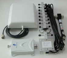 65dB 1800MHz Repeater + 2 Panel Antennas + 1 Yagi Antenna + Black Cable Cell Phone Signal Booster/Repeater/Amplifier Kit