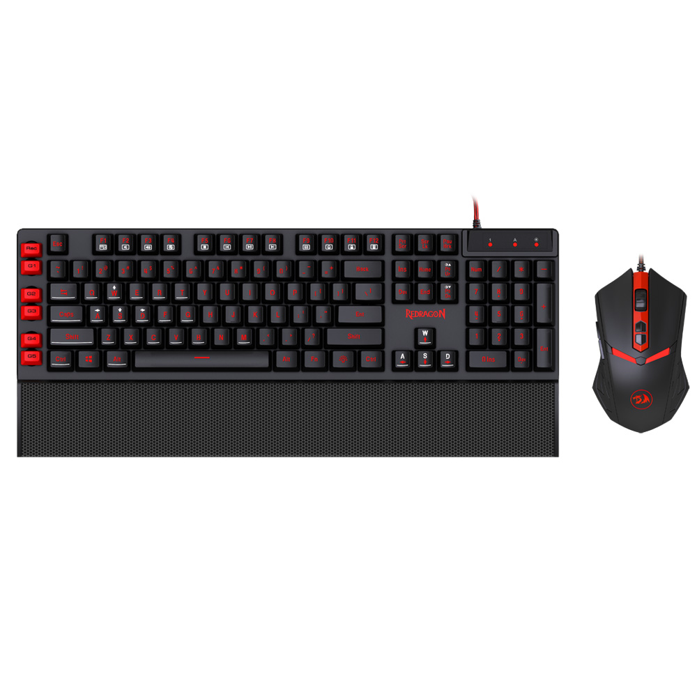 Original REDRAGON S102 USB Wired Macro Recording Keyboard and 7 Buttons Mouse Combo with LED Backlit for PC Laptop Desktop(China (Mainland))