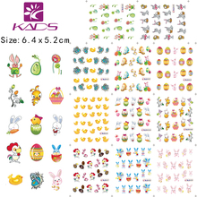 BLE399-409 Purple Easter Designs Nail Art Stickers Tattoos Decorations Tools For water transfer stickers nails beauty supplies