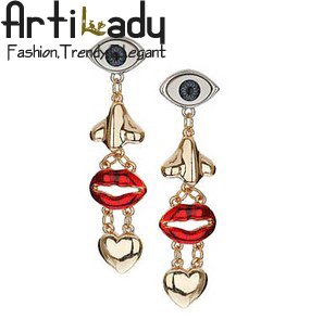 Artilady evil eyes with nose clips earrings  fashion statement earrings statement jewelry