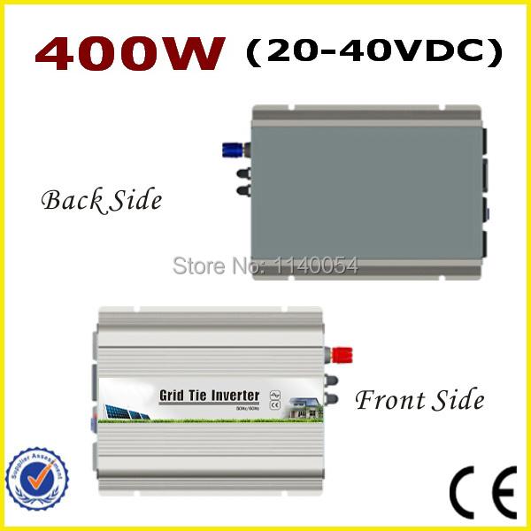 400W 20-40VDC MPPT Grid tie inverter for 400-480W 24V or 30V Solar System, 90-260VAC Full Voltage Output On Grid Inverter 400W(China (Mainland))