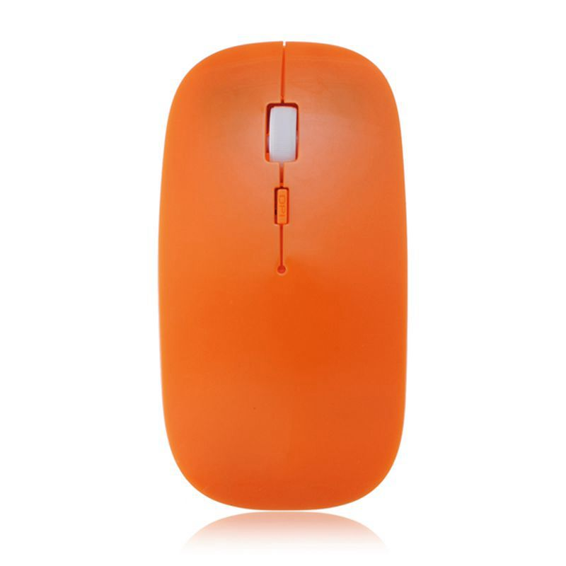 Orange Ultra-thin 23 mm Digital 2.4G wireless mouse and mice 10M working distance,super slim mouse For computer PC Laptop Drop(China (Mainland))