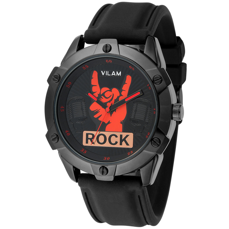 Cool Rock Man Fingers Model Design Fashion Trends Quality Rubber Band Japan Quartz Watches Free Shipping 2 Years Battery Life(China (Mainland))