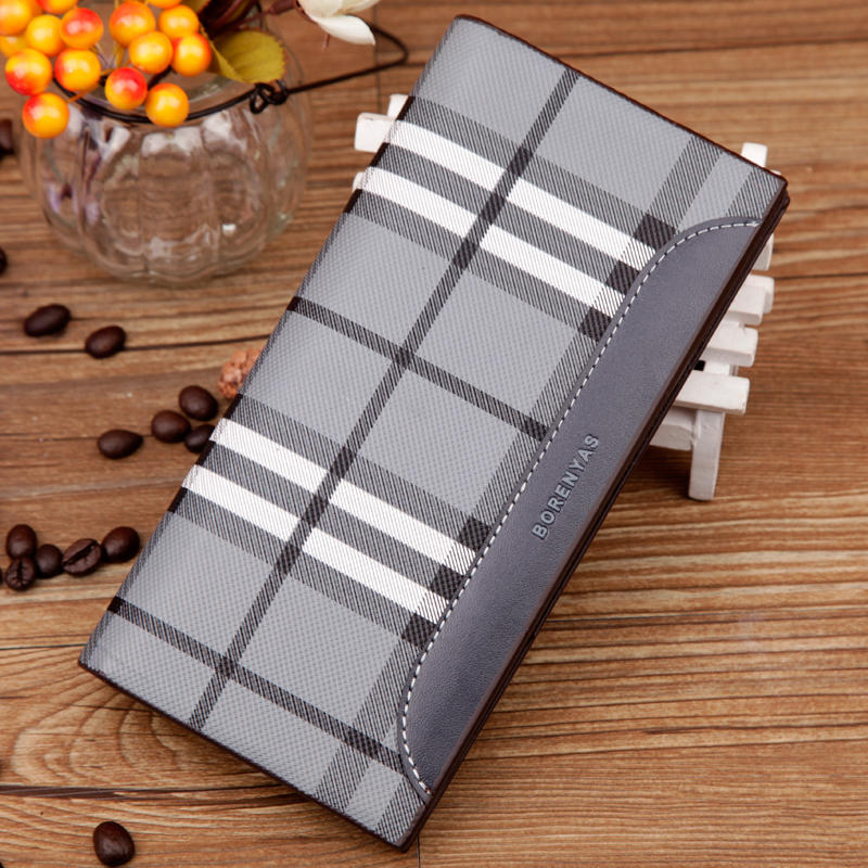 Free Shipping mens business Long Wallets Men money clutches PU Leather Wallet casual Purses Brands Designer credit cards holder(China (Mainland))
