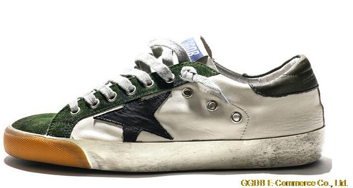 Italy Brand GOLDEN GOOSE Low-tops Distressed Super Star Casual Shoes Genuine Leather Men Women Green Shoes GGDB Original