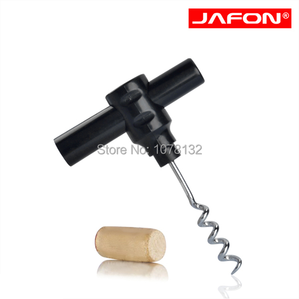 KO800A Bottle Opener Keychain Tool Red Wine Bottle Corkscrew Opener In Black With Plastic Handle(China (Mainland))