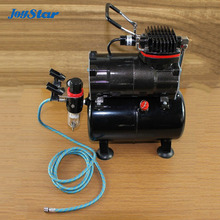 Brand New Professional High Performance Single-Piston Airbrush Air Compressor with Air Storage Tank Air Pressure Regulator (China (Mainland))