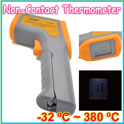 1pcs Hand-held Non-Contact IR Infrared Digital Thermometer temperature gun with Laser CA380 Wholesale(China (Mainland))