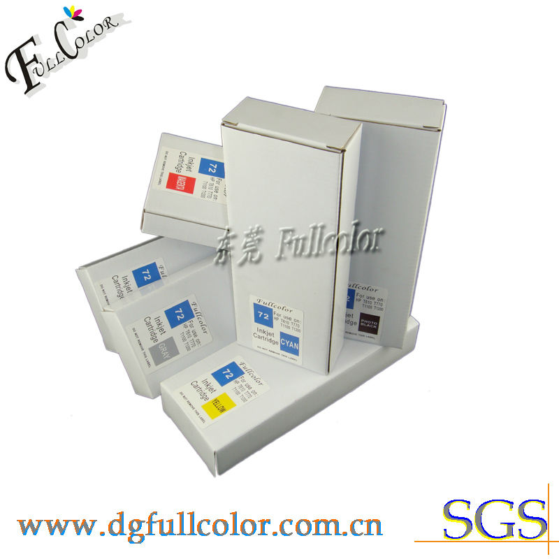 Refillable Desginjet T1100 Printer Compatible HP72 Ink Cartridge With Permanent Chip &amp; Inks<br><br>Aliexpress