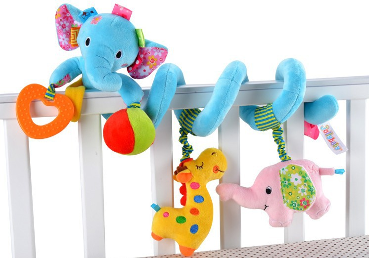 aby toys 0-1 years old newborn baby bed bell music bed bell rattles rotating bed bell bed hang around 3pcs/lot 04018(China (Mainland))