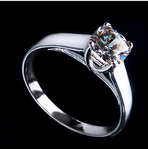 1 CT Solid Gold 14k New Fashion Style Dependable Synthetic Diamond Women Engagement Ring Greatest Design Last Forever Never Fade(China (Mainland))