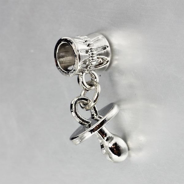 Гаджет  18k White Gold Plated Pendant Nipple Charm Beads Fit Women Pandora Snake Chain Diy Bracelets & Bangles Jewelry YW15583 None Ювелирные изделия и часы