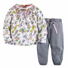 Buy Baby Girls Sets 100% Cotton Long Sleeve Tops +Pants 2017 Brand Spring Autumn Children Clothing Sets Girls Clothes Kids Outfits ) for $11.50 in AliExpress store