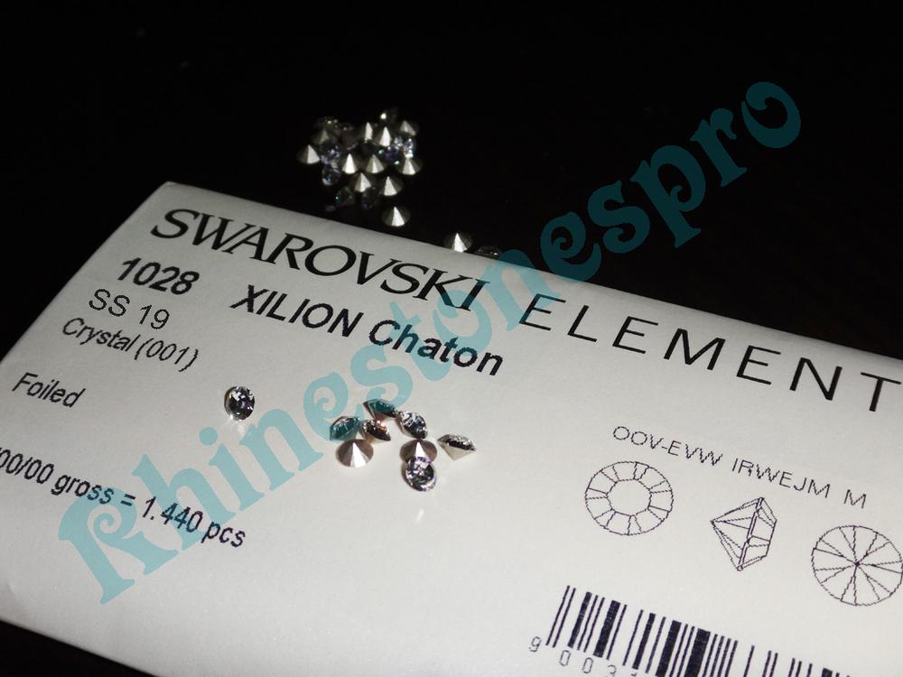 ~ Swarovski Elements 1028 / 1088 Xilion Chaton 1440 pcs ss19 ( 4.4-4.6mm ) bulk wholesale 19ss Crystal (001) Clear Silver Foiled(Hong Kong)