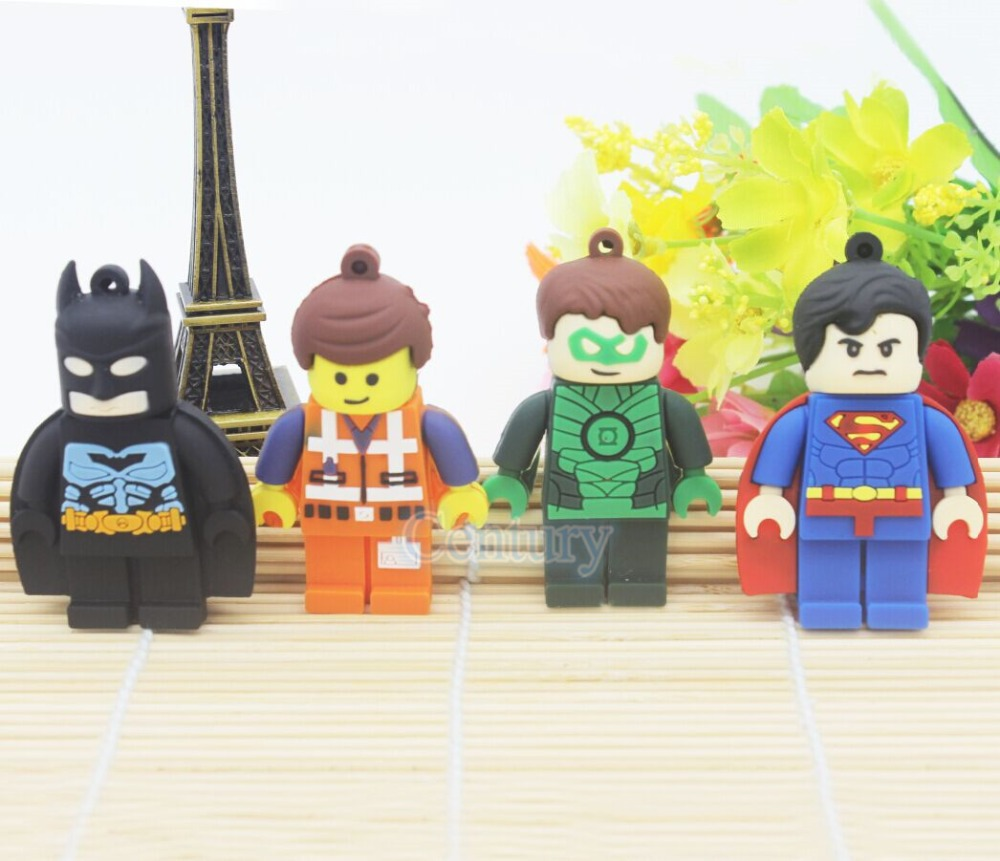 Promotion usb flash drive pen drive 32gb pendrive 16gb 8gb 4gb superman batman new style avenger pendrive Usb 2.0 cartoon Hero(China (Mainland))